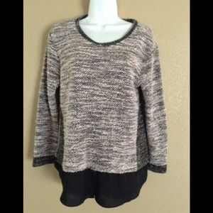 Two By Vince Camuto Size L Sweater Blouse